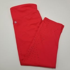 Fabletics Red Large workout leggings capris